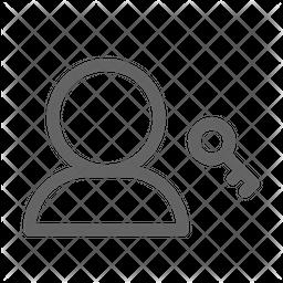 User access Line Icon