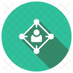 User Connection Glyph Icon