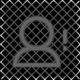 User error Line Icon