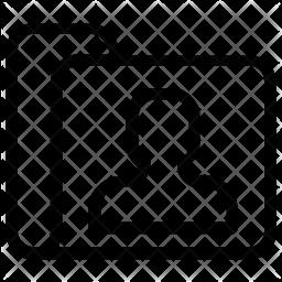User folder Line Icon