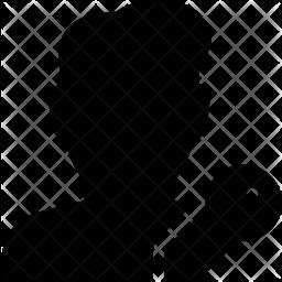 User key Glyph Icon