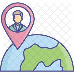 User Location Colored Outline Icon