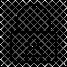 User Lock Line Icon