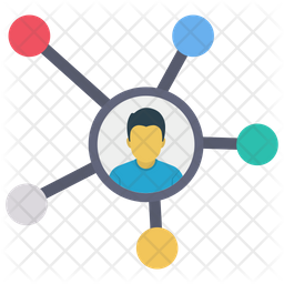User Network Flat Icon