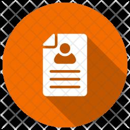 User Profile Glyph Icon