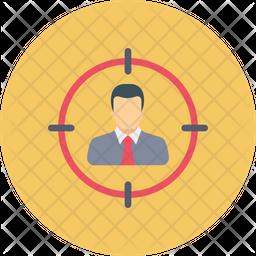 User Target Flat Icon