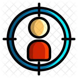 User Target Colored Outline Icon