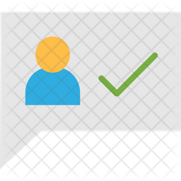 User verified Flat Icon