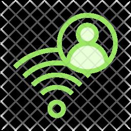 User wifi Colored Outline Icon