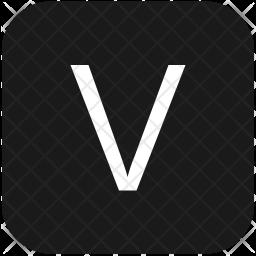 V letter Icon