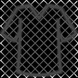 V Neck Tshirt Icon