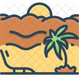 Vacation Colored Outline Icon