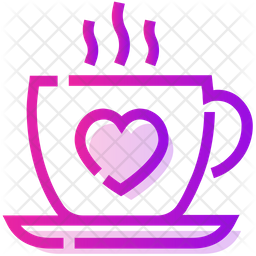 Valentine Coffee Icon Of Colored Outline Style Available In Svg Png Eps Ai Icon Fonts