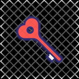 Valentine Key Icon