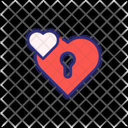 Valentine Padlock Icon