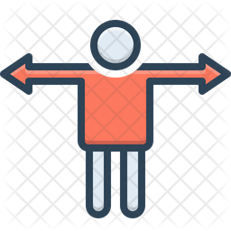 Variance Colored Outline Icon