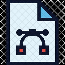 Vector File Colored Outline Icon