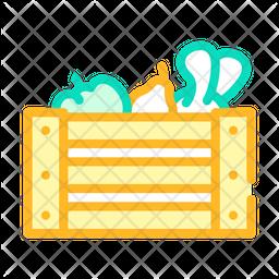 Vegetable Box Icon