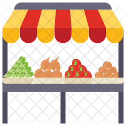 Vegetable Kiosk Icon