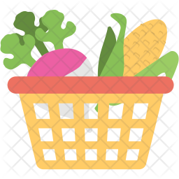 Vegetables Basket Icon