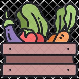 Vegetables bucket Icon