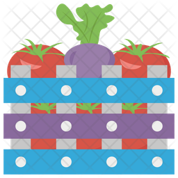 Vegetables In Create Icon