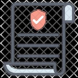 Verified Document Line Icon