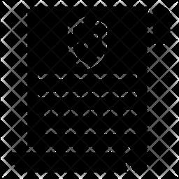 Verified Document Glyph Icon