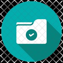 Verified Folder Glyph Icon