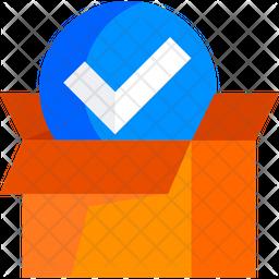 Verified Parcel Flat Icon