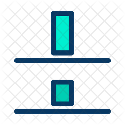 Verticle Distribute Bottom Align Icon