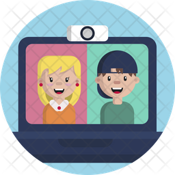 Video Call Flat Icon
