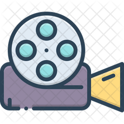 Video Camera Icon Of Colored Outline Style Available In Svg Png Eps Ai Icon Fonts