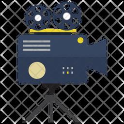 Video camera with tripod Icon