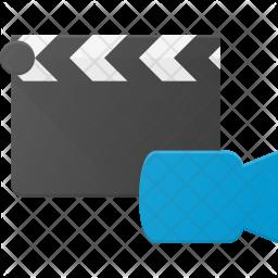 Video clapper Flat Icon
