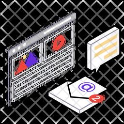 Video Content Marketing Isometric  Logo Icon