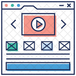Video Editing Colored Outline Icon