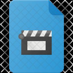 Video file Flat Icon