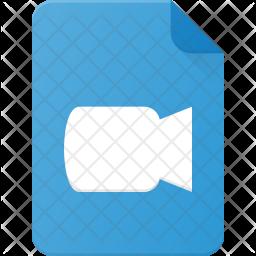 Video film Flat Icon