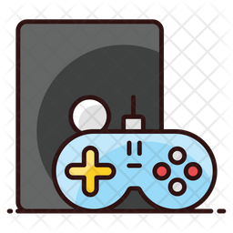 Video Game Colored Outline Icon