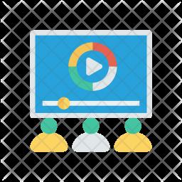 Video study Flat Icon