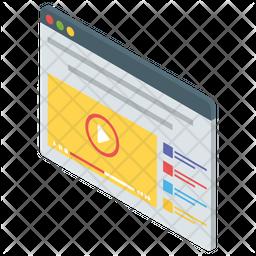 Video Website Isometric Icon