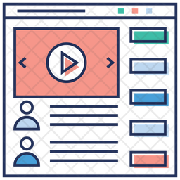 Videography Website Colored Outline Icon
