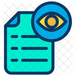 View Document Icon Of Colored Outline Style Available In Svg Png Eps Ai Icon Fonts