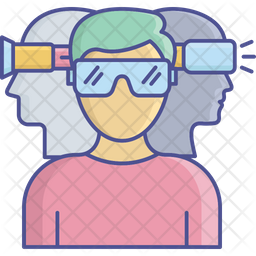 Virtual Glasses Icon