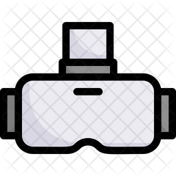 Virtual Reality Colored Outline Icon
