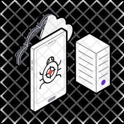 Virus Attack Isometric Icon