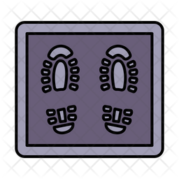 Virus Doormat Colored Outline Icon