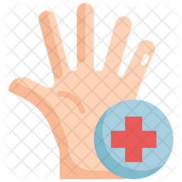 Virus On Hand Icon