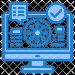 Virus Spread Data Icon